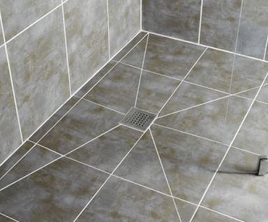 Tiled wetrom floor img 1